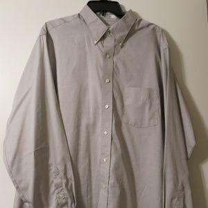 Men's Light Grey Van Heusen Dress Shirt